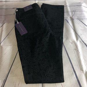 NYDJ Slim Straight Black Print Jeans Size 2